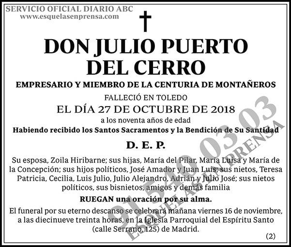 Julio Puerto del Cerro